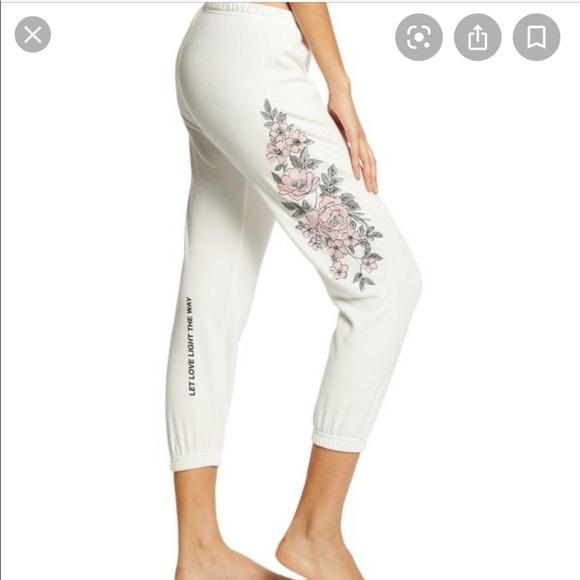 NWT spiritual gangster floral perfect sweatpants
